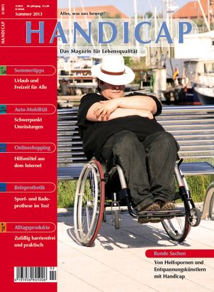 German 'Handicap' Magazine cover - man in a wheelchair